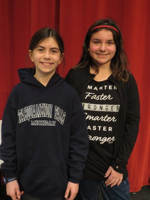 Shelby Robinett won the Page Elementary spelling bee with Jessie Drenten taking runner-up honors.
