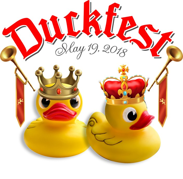 2 ducks with crowns.  Duckfest May 19, 2018