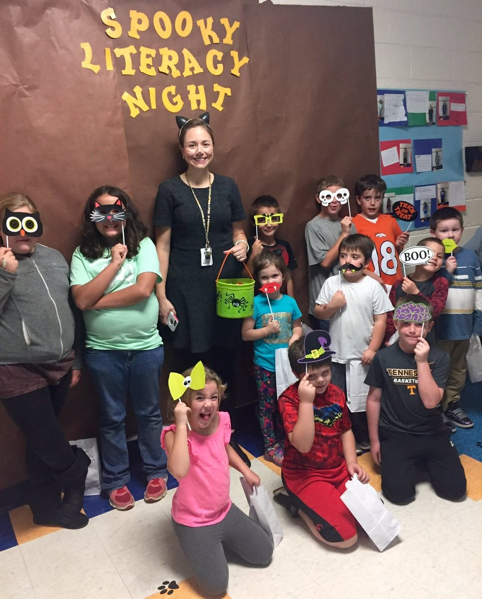 Having fun at Literacy Night!