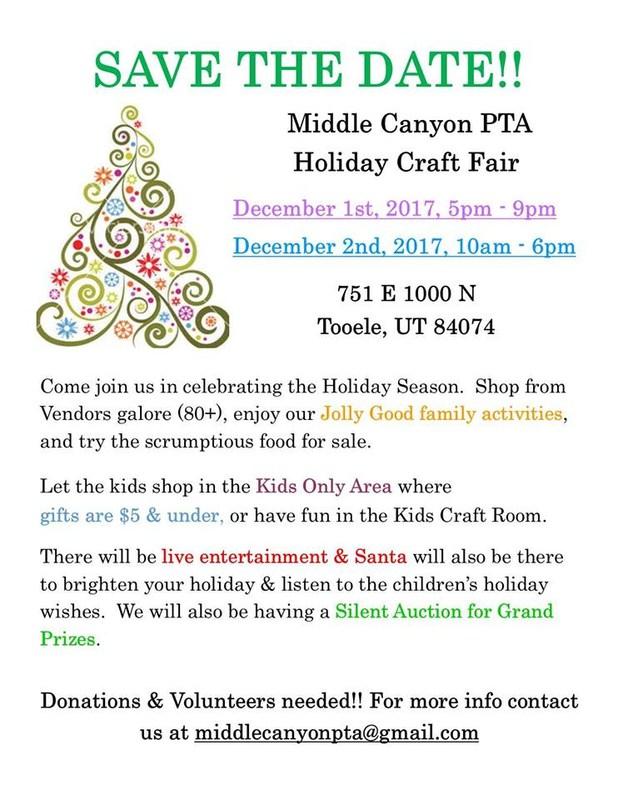 Volunteer Sign Up - Middle Canyon Craft Fair Thumbnail Image