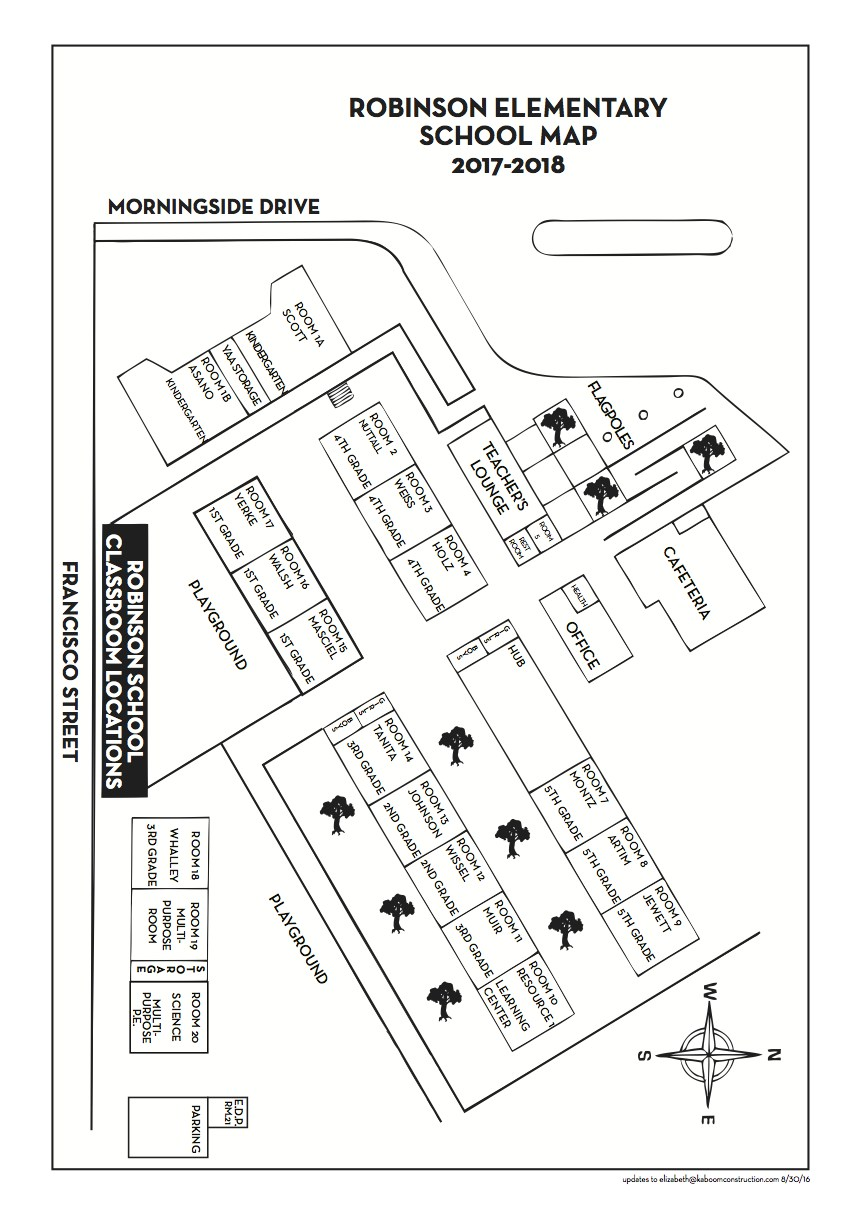Robinson Elementary School Map