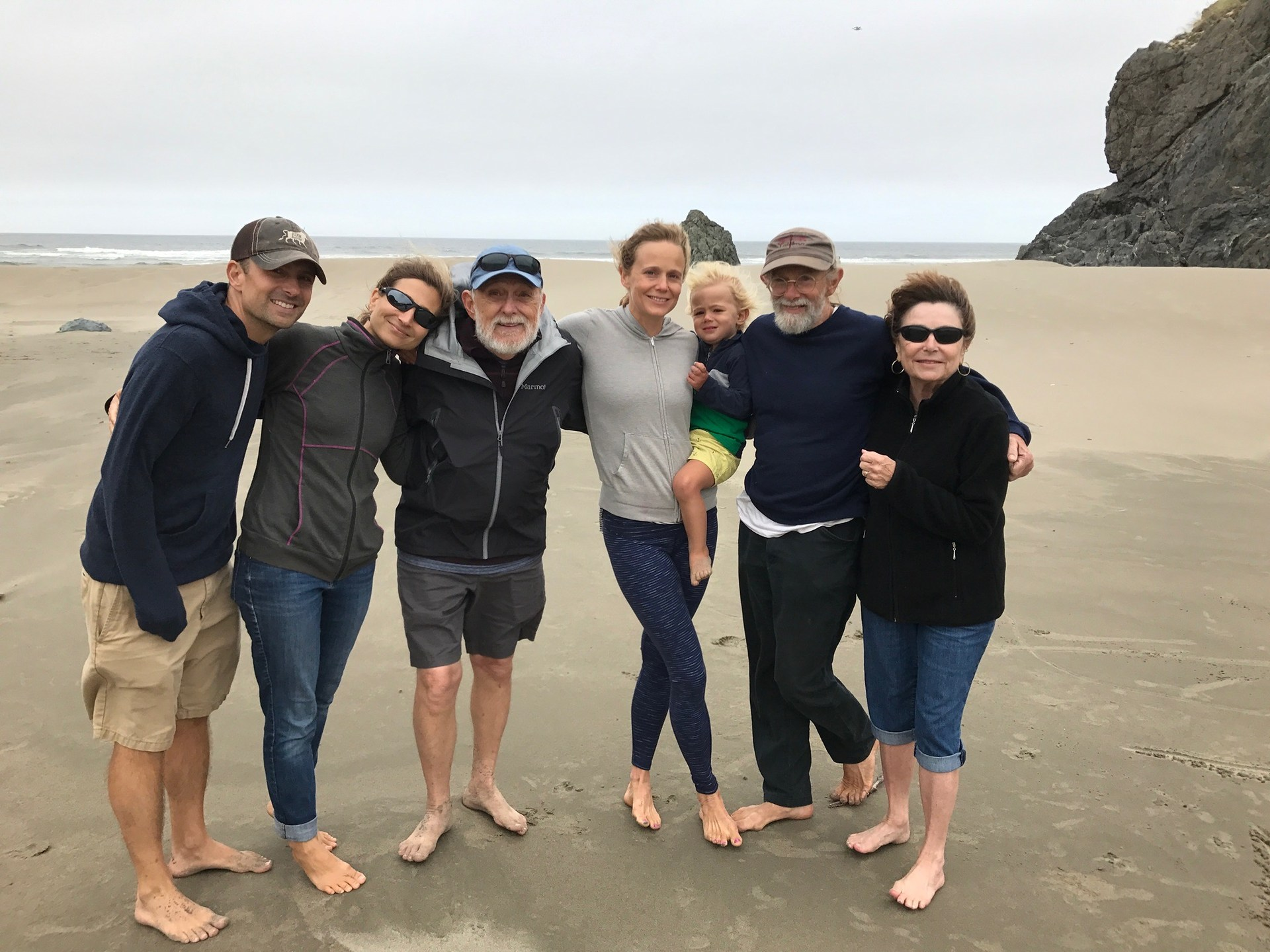 On the Oregon coast with family