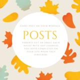 Use posts on your Edlio page