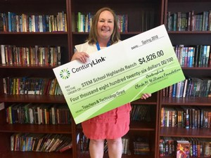 Congratulations Ms. Jimenez who was Awarded the CenturyLink Teachers and Technology Grant