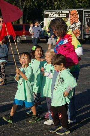 Preschool leading parade