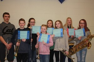 CMS Student Musicians with certificates from the recent music festival