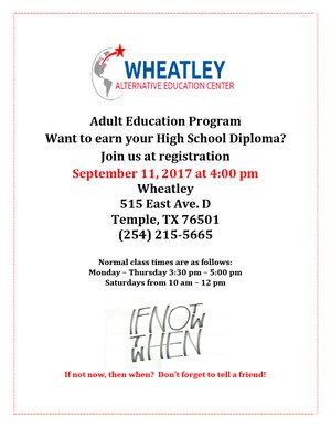 Adult Education Info Session