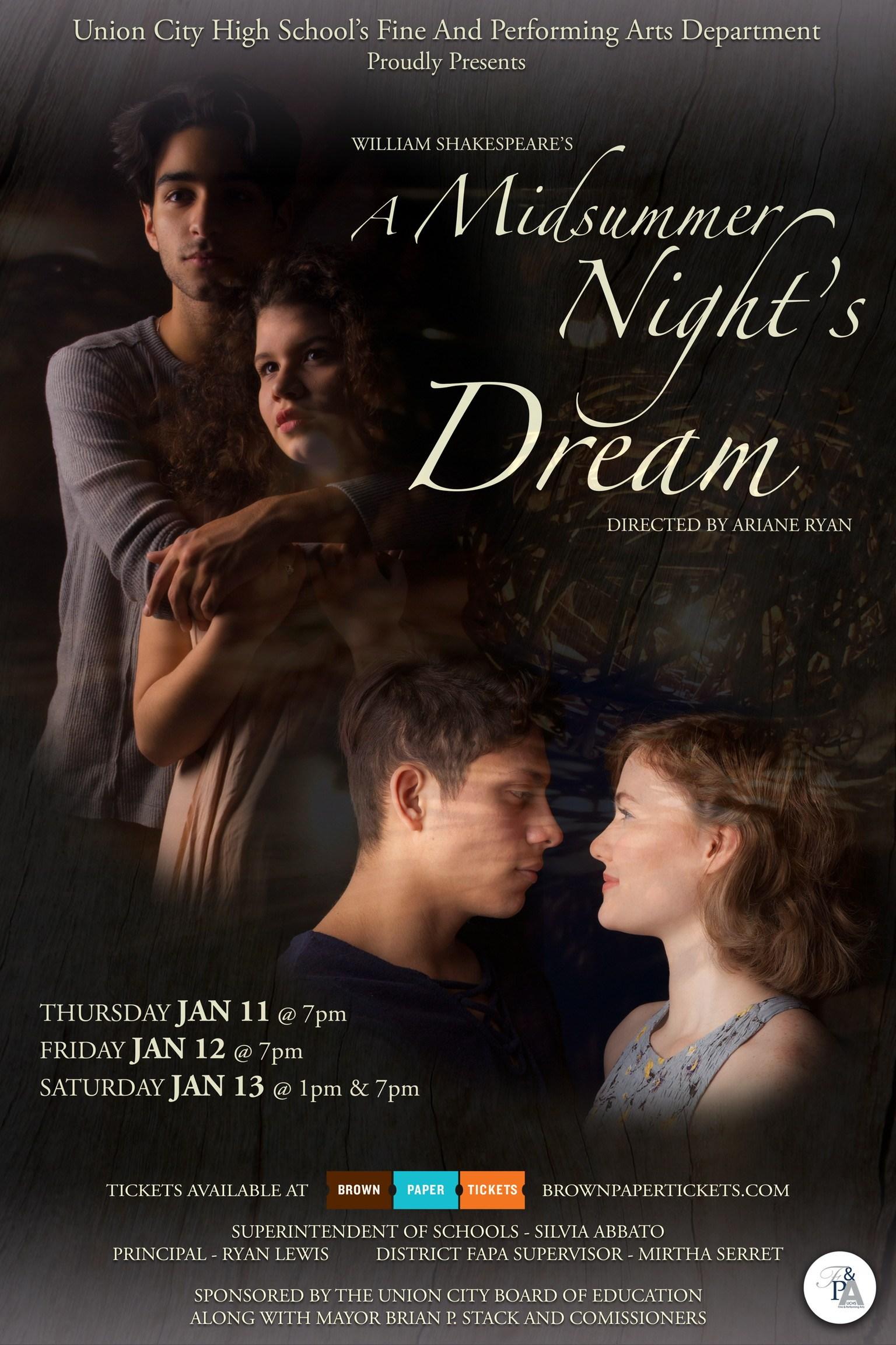 Midsummer Nights Dream flyer