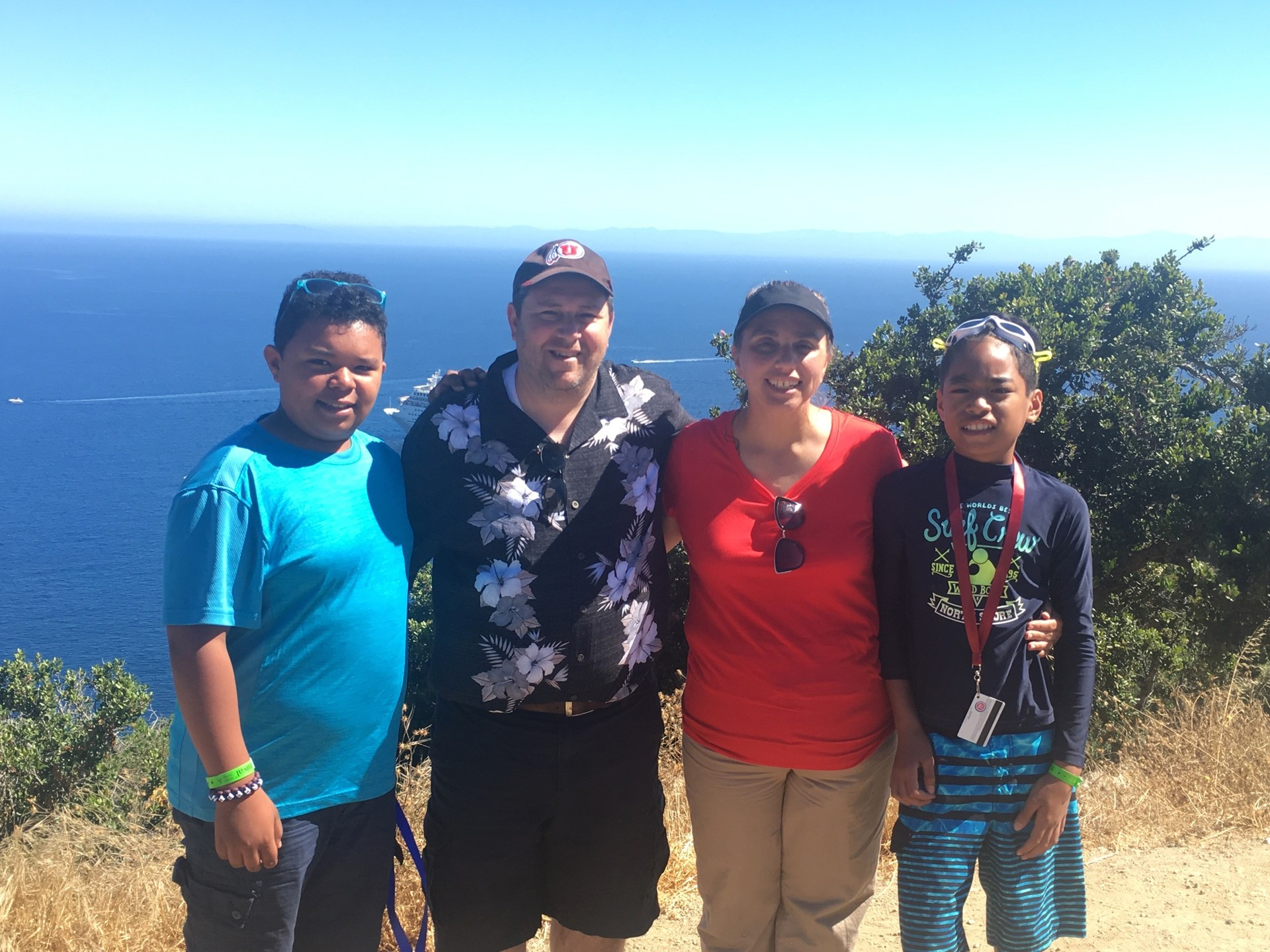 Mr oviatt with family on cruise