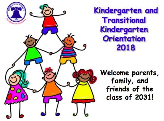 Kindergarten and Transitional Kindergarten Orientation