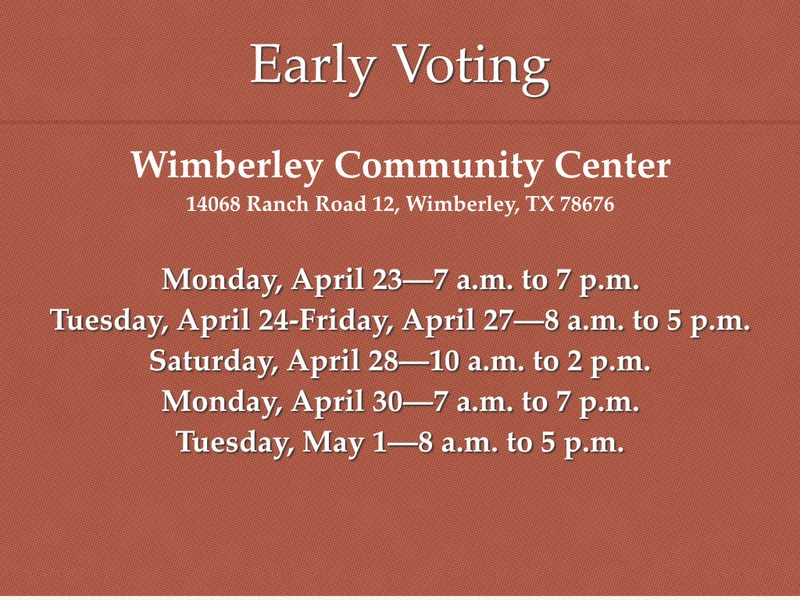 Bond Election Early Voting Begins April 23 Thumbnail Image