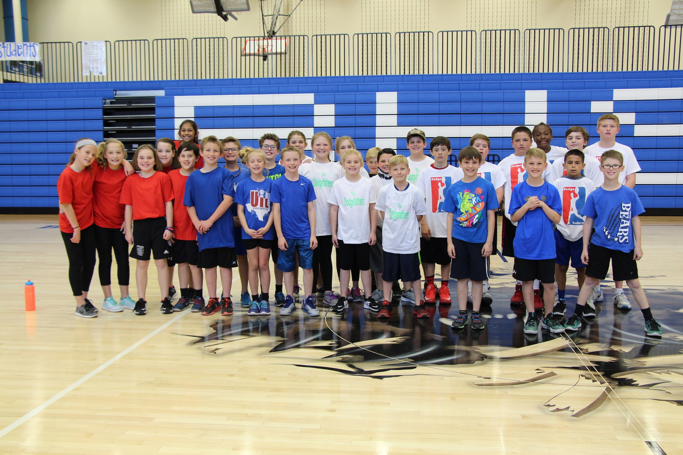 Dodgeball Tournament third through sixth grade contestants