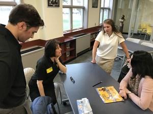 PJ student talks to Miners about marketing