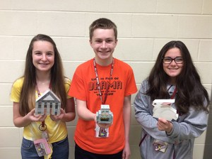 Honors Geometry 3-D Composite Space Figure winners