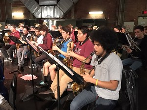Students of the Hart Daistrict Honor Band