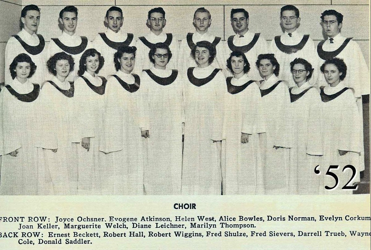 1955 photo of the school choir