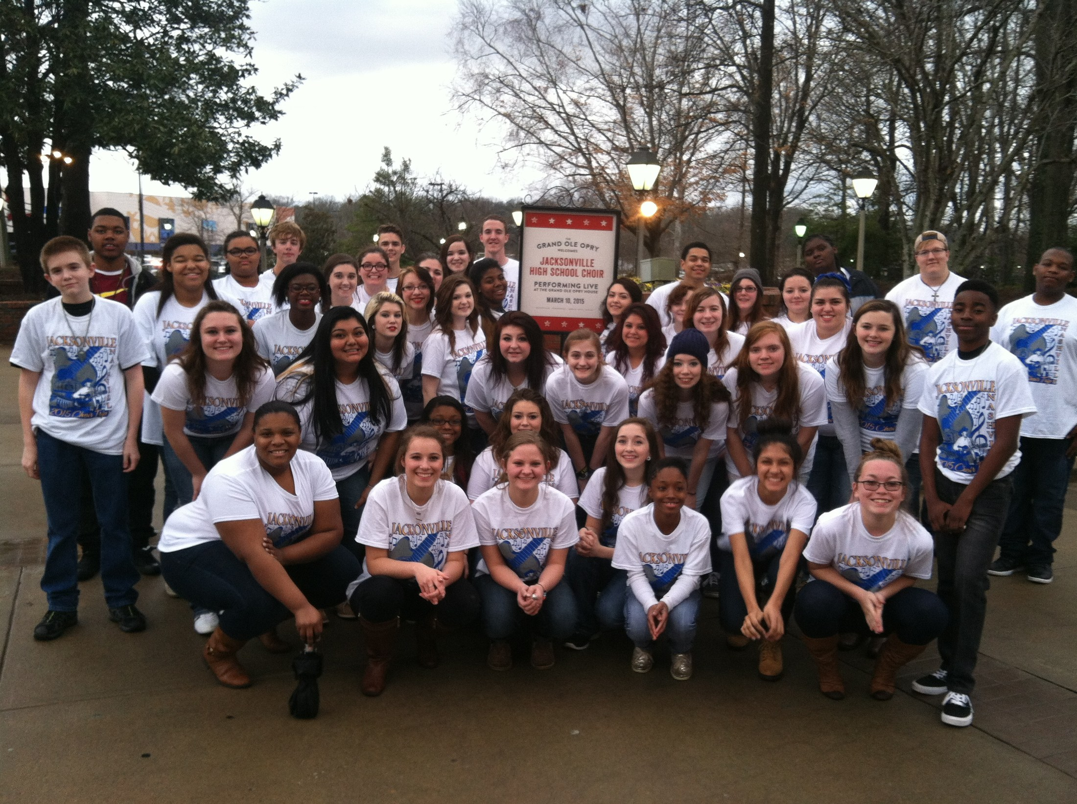 Singing outside the Grand Ole Opry