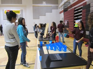 Exploring careers in teh energy industry with 8th grade students from Lakeside Elementary.