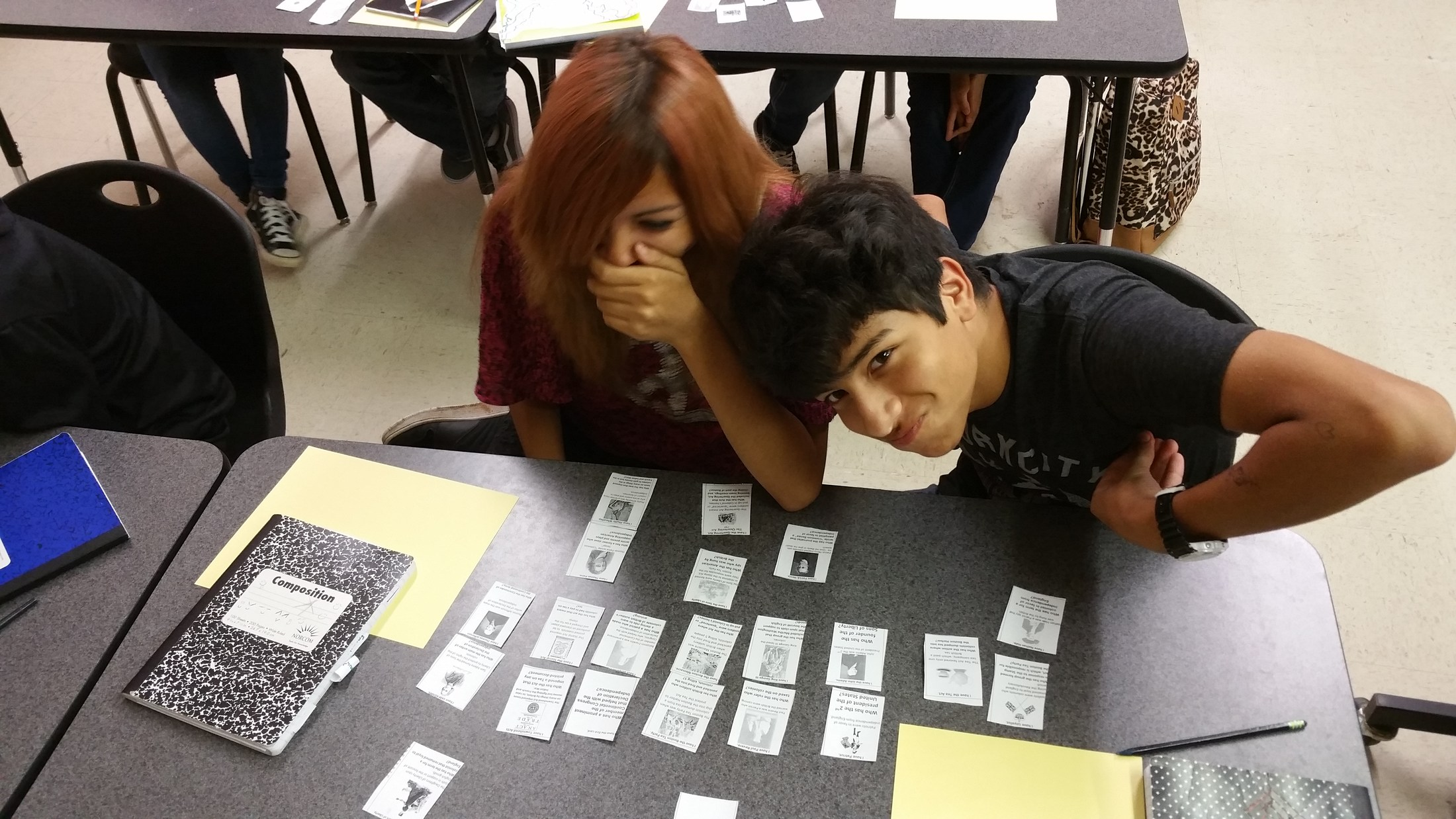 Students participating in a
