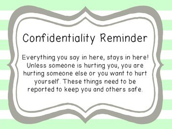 Confidentiality Reminder