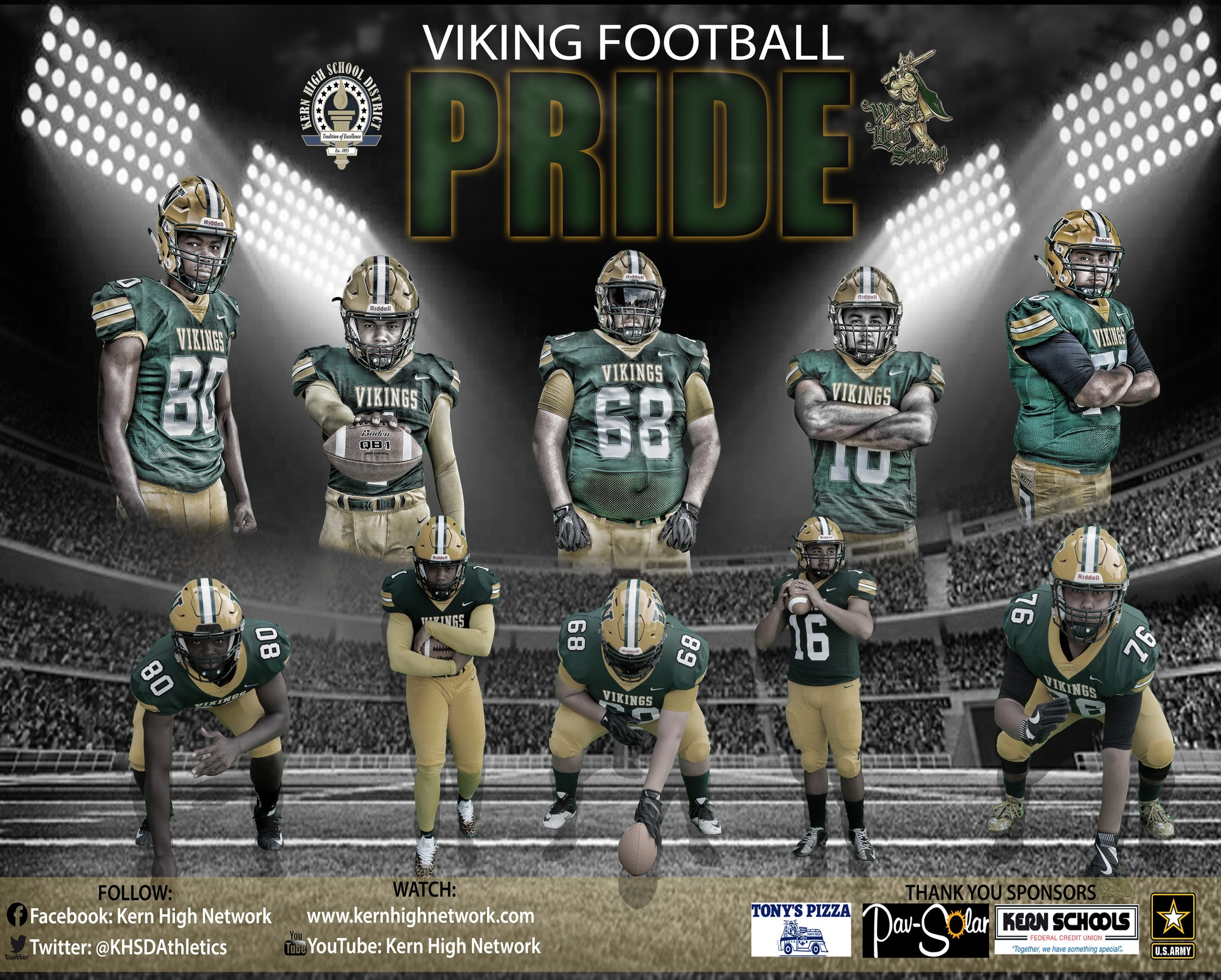 Promotional Football Posters 2017 Miscellaneous Kern High Network