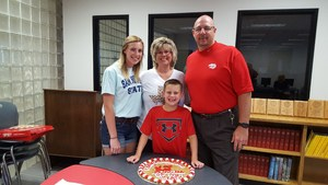 LHS Principal Kevin Johnson & family.