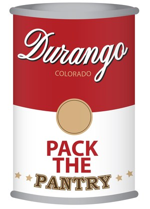 Image of a canned soup with the Pack the Pantry promotion on it