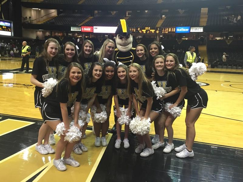 WCHS football cheerleaders at Vanderbilt University Thumbnail Image