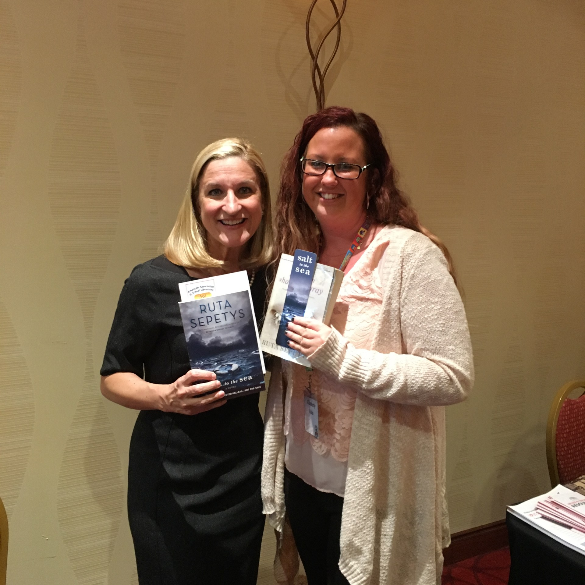 Ms. Rein with author Ruta Sepetys 2016