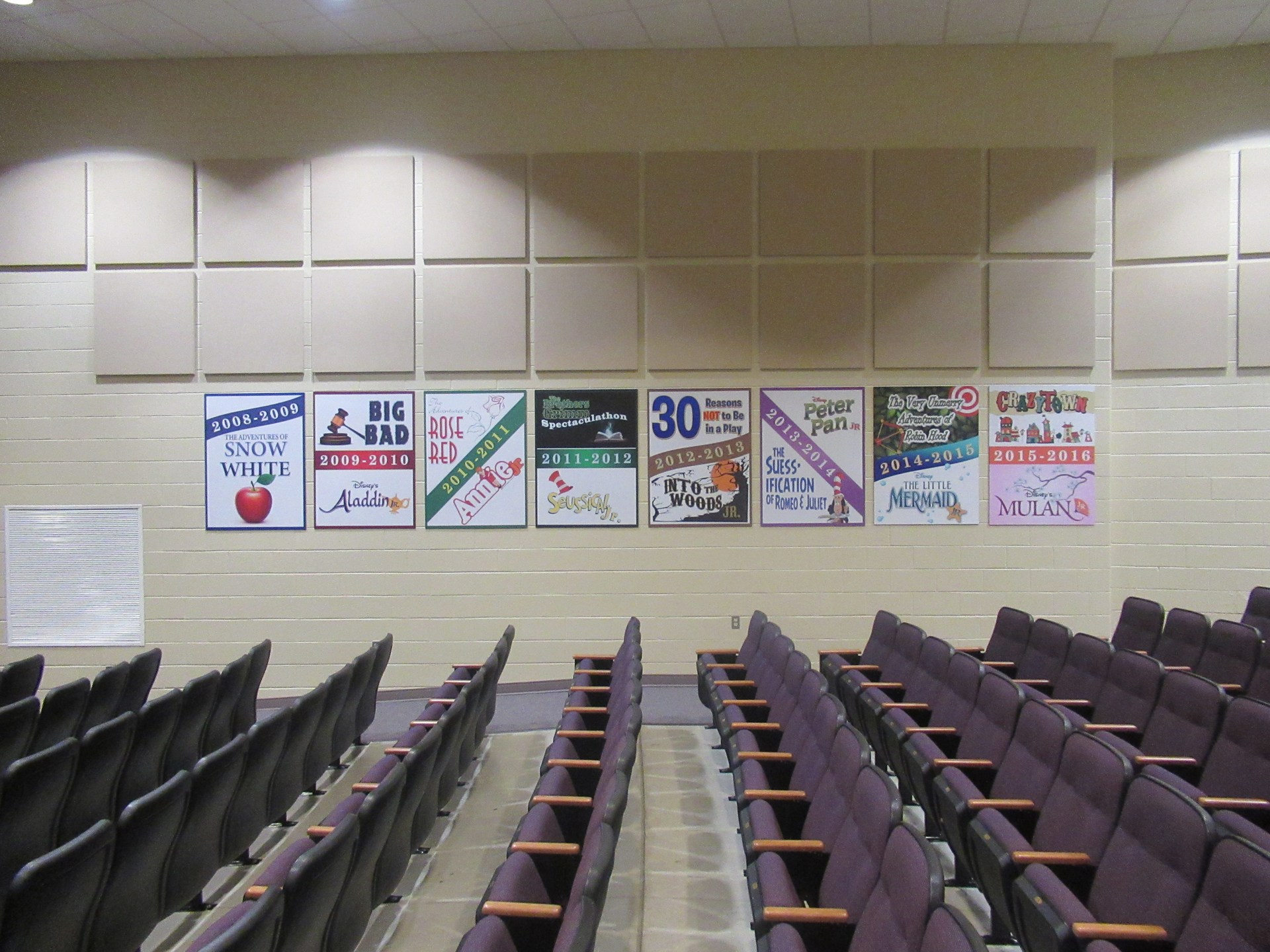 AAJHS Auditorium Previous Preformances