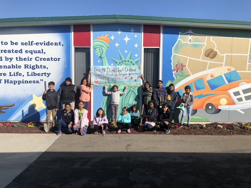 Students by Mural