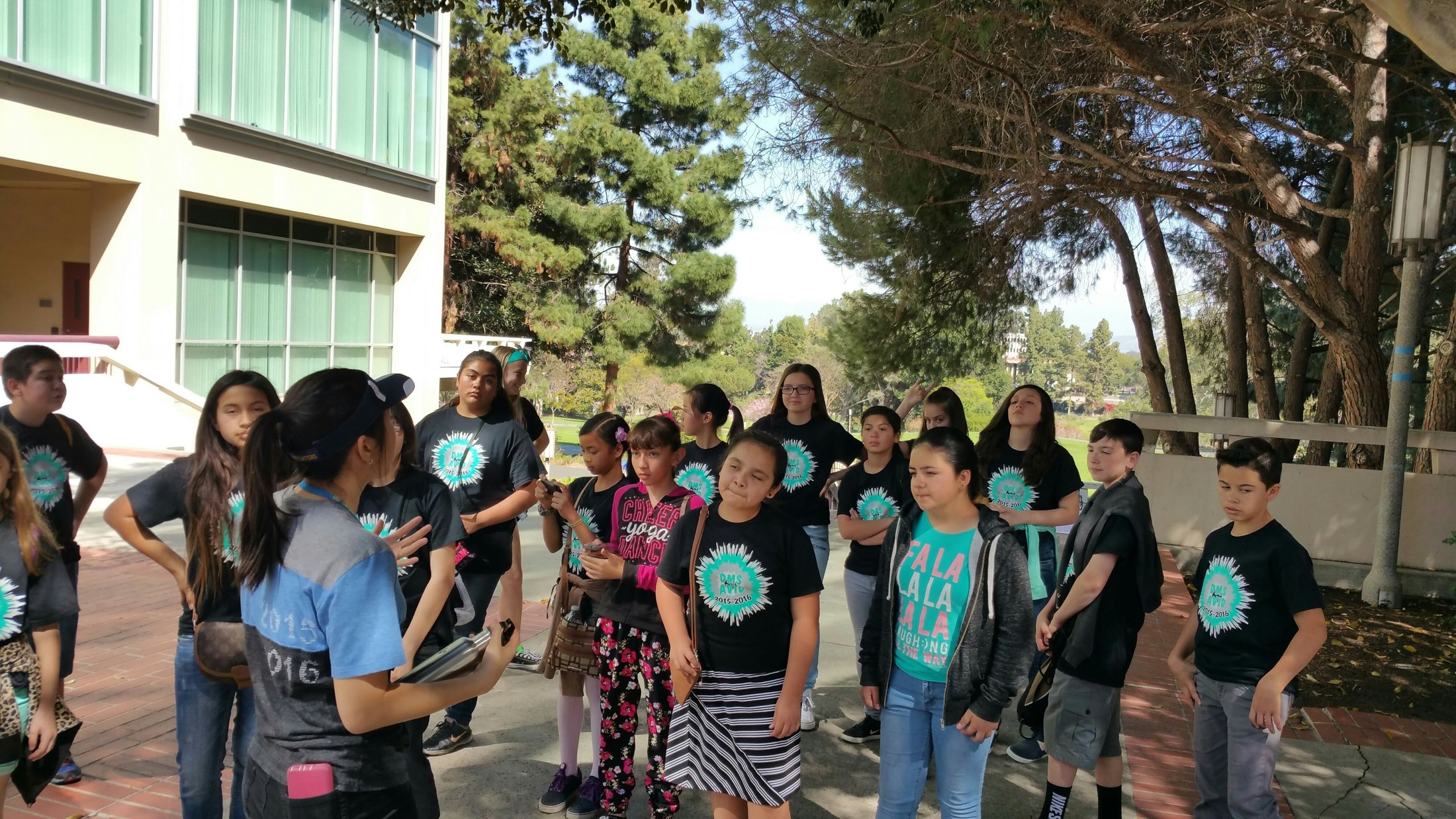 Dartmouth AVID visiting the University of California - Irvine