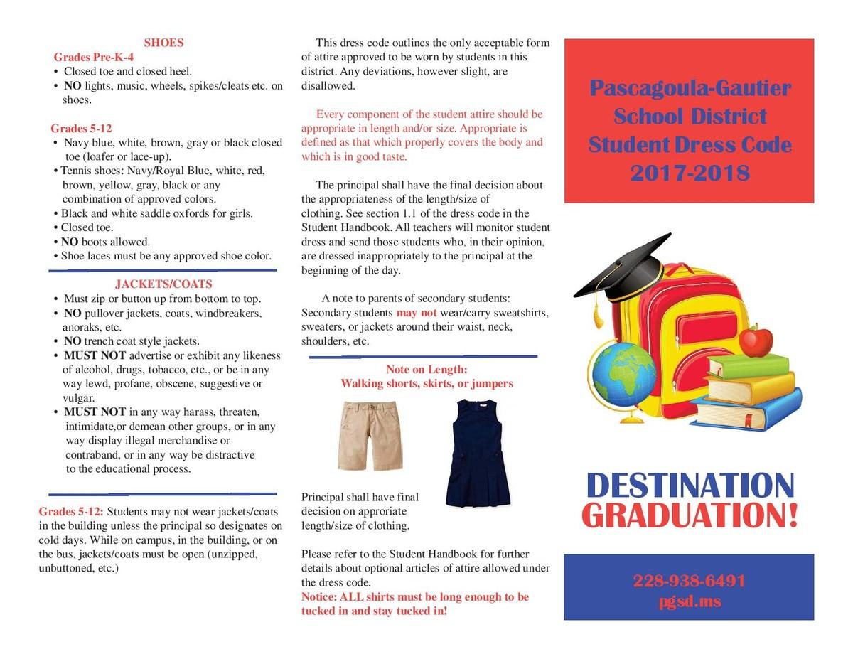 2017-18 Dress Code Brochure page 2