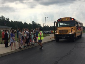 Picture of bus evacuation