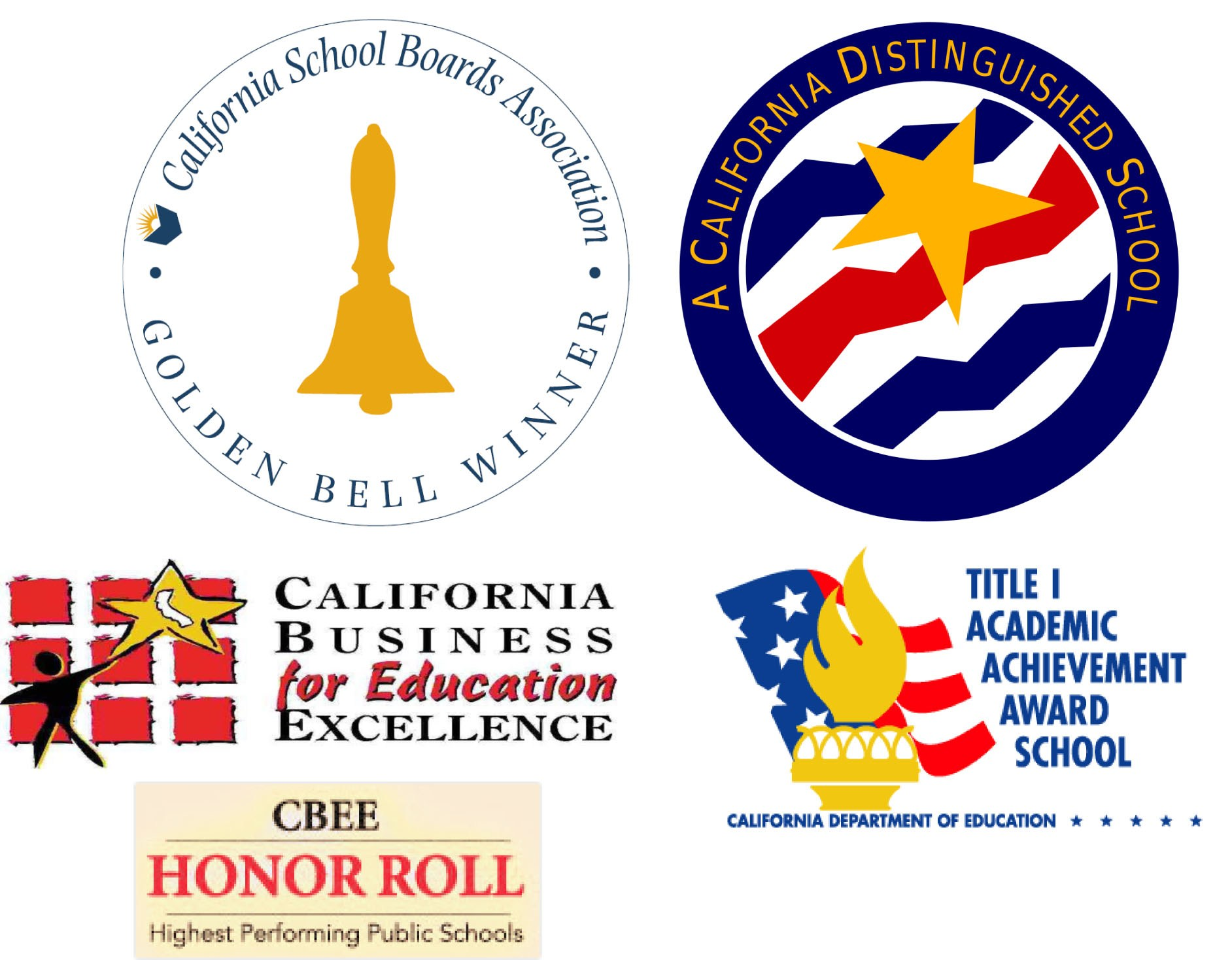List of awards won by Ceres Elementary including Golden Bell Award and the California Distinguished School Award.