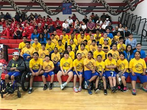 Mission CISD Special Olympics Team at the Basketball Competition at Sharyland Pioneer High School.