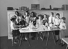 Throwback Thursday: Children playing in Schermerhorn Hall classroom