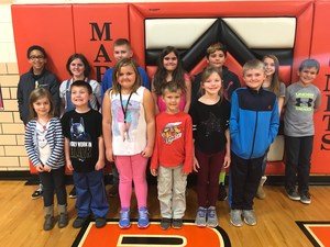 November Elementary Students of the Month.