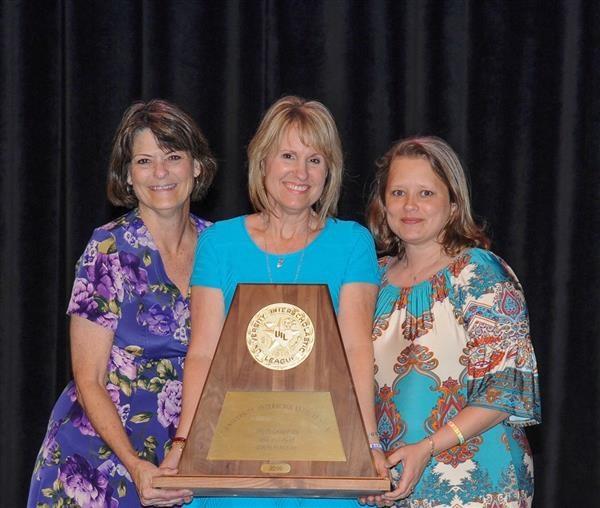 Mrs. Gamel, Mrs. Maenius, Mrs. Klaerner with State OAP Trophy 2016