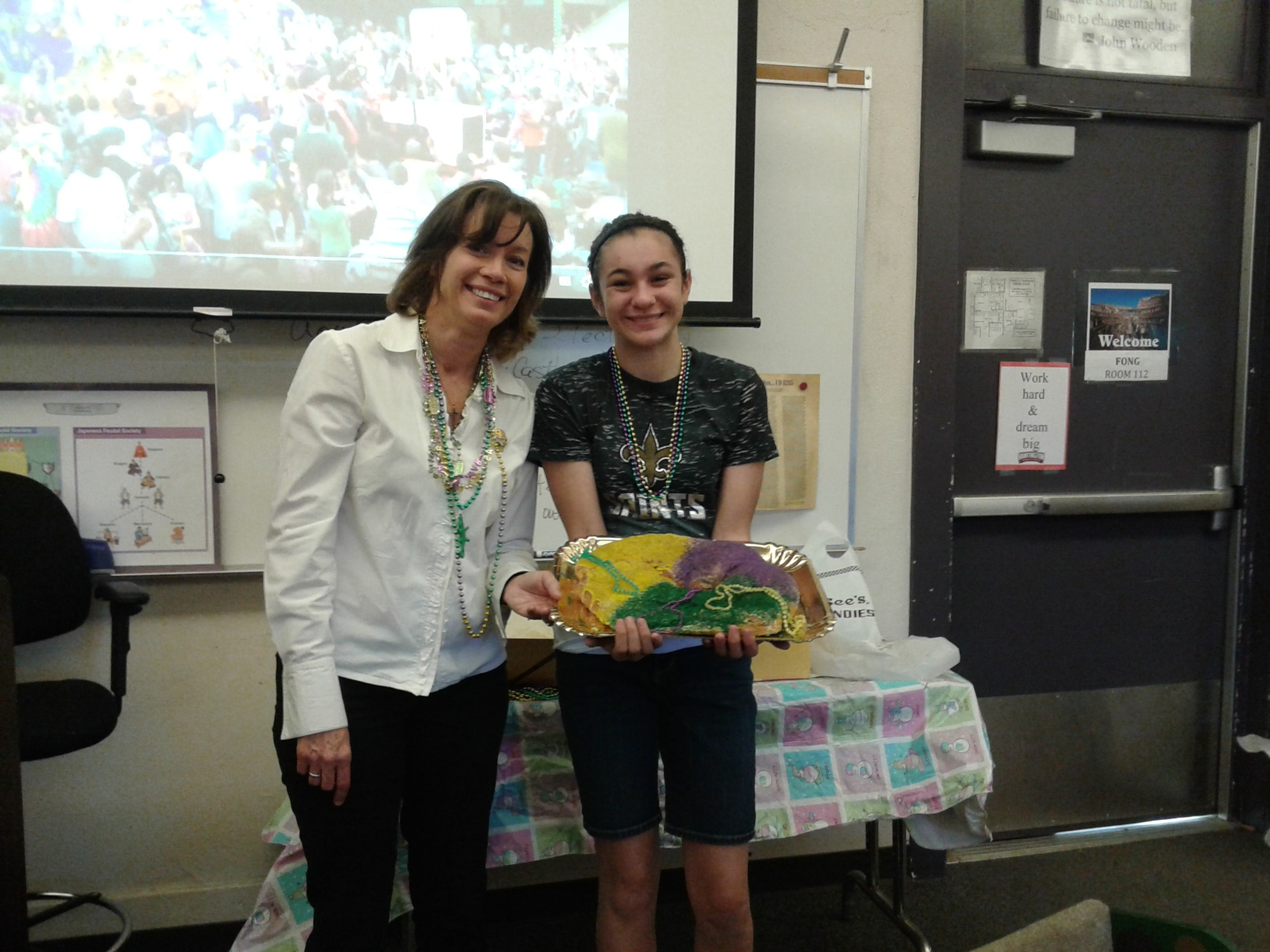 Thank you Mrs. Lytle for the King cake
