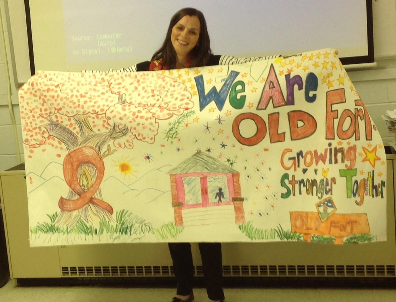 Celebrating Red Ribbon Week-Old Fort Elementary