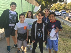 Hawthorne Students Collect Hurricane Relief Donations