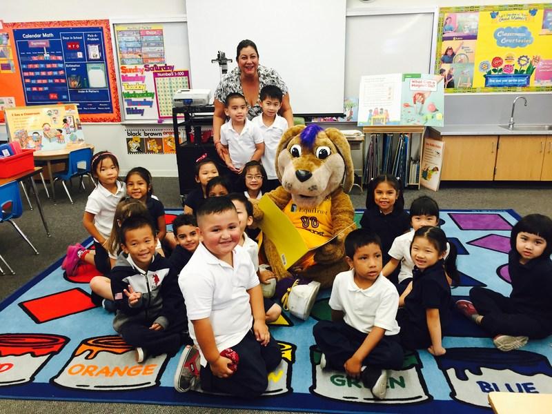 L.A. Sparks mascot visits Sanchez! Thumbnail Image