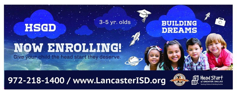Head Start is Still Enrolling 3 to 5 year olds in Lancaster ISD until December Thumbnail Image