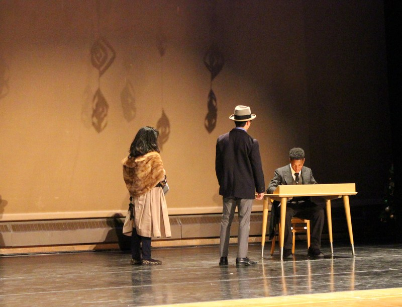 Student actors perform in the Cruz Winter Showcase