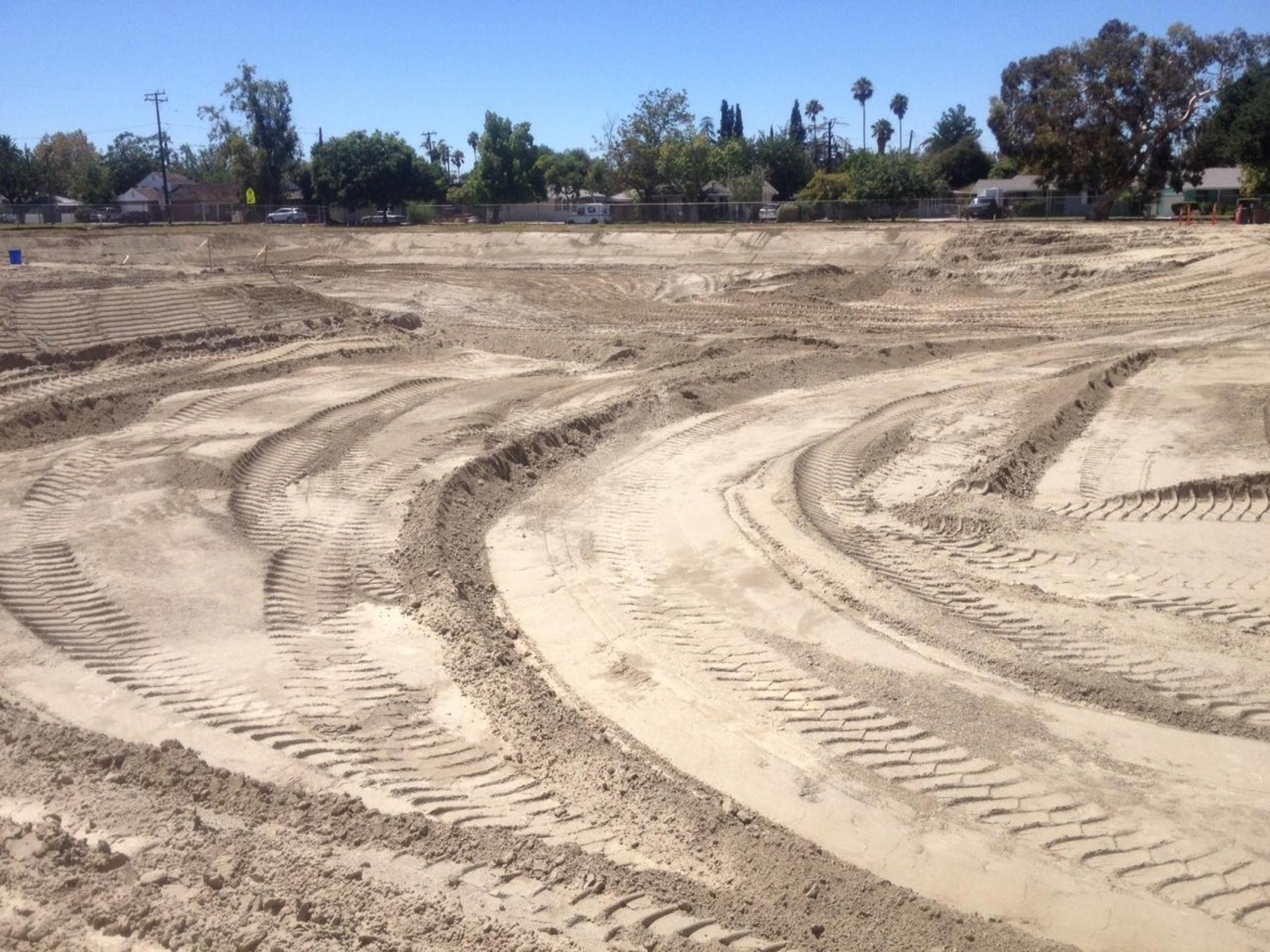 Grading begins at Multi-Purpose Room
