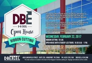 D-B EXCEL Ribbon Cutting invitation