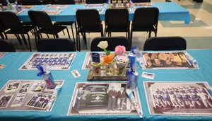 Table decorations for Senior Citizen Appreciation Breakfast