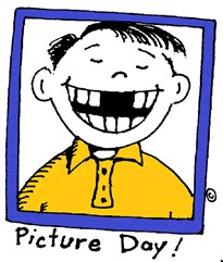 clipart of kid with the word picture day