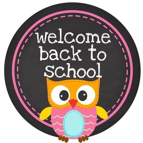 Welcome Back to School with a picture of owl